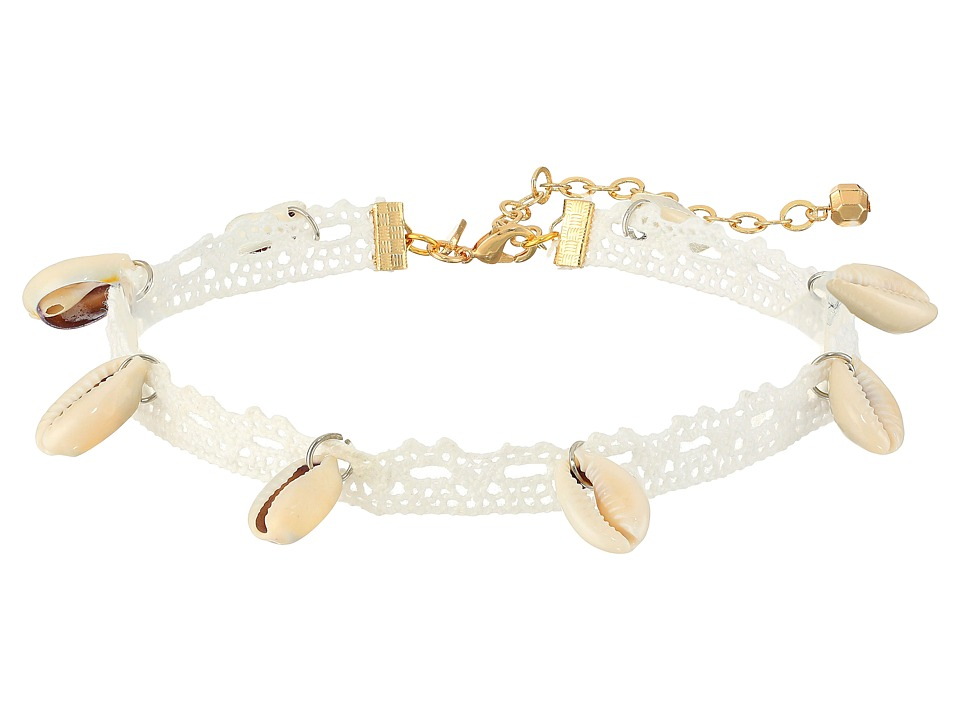 Vanessa Mooney - The Sebastian Choker Necklace (White) Necklace
