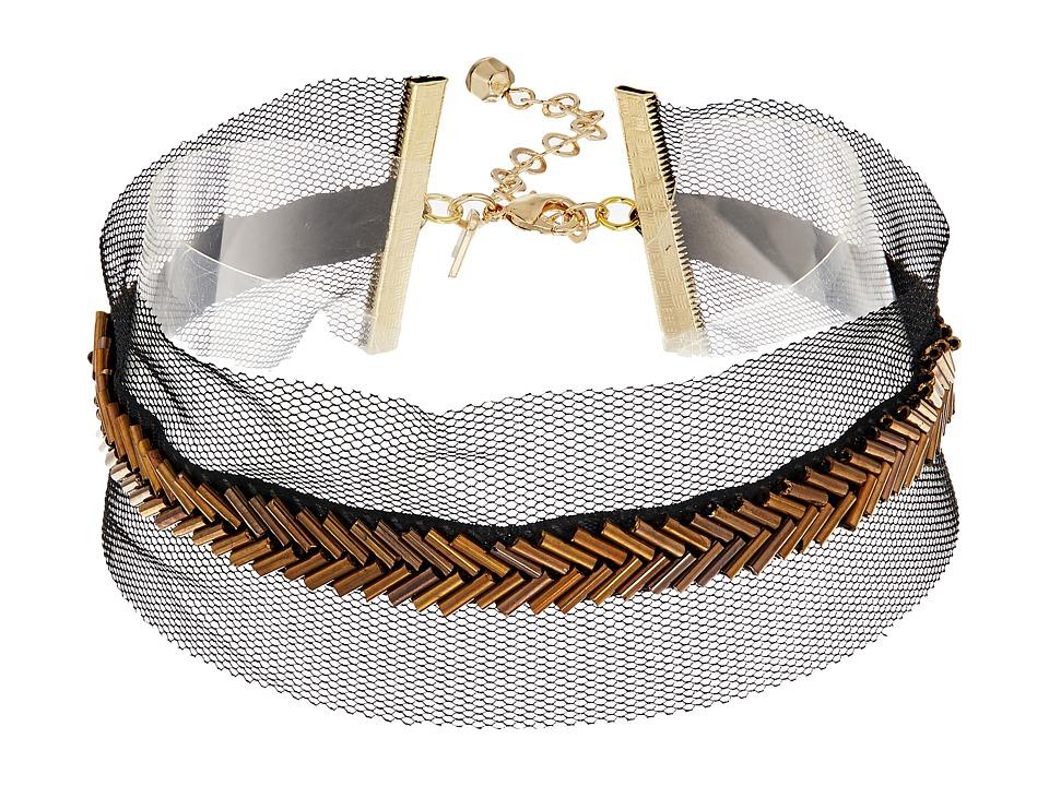 Vanessa Mooney - The Jean Choker Necklace (Black) Necklace