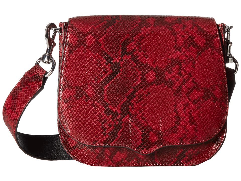 Rebecca Minkoff - Sunday Large Saddle (Red Snake) Handbags