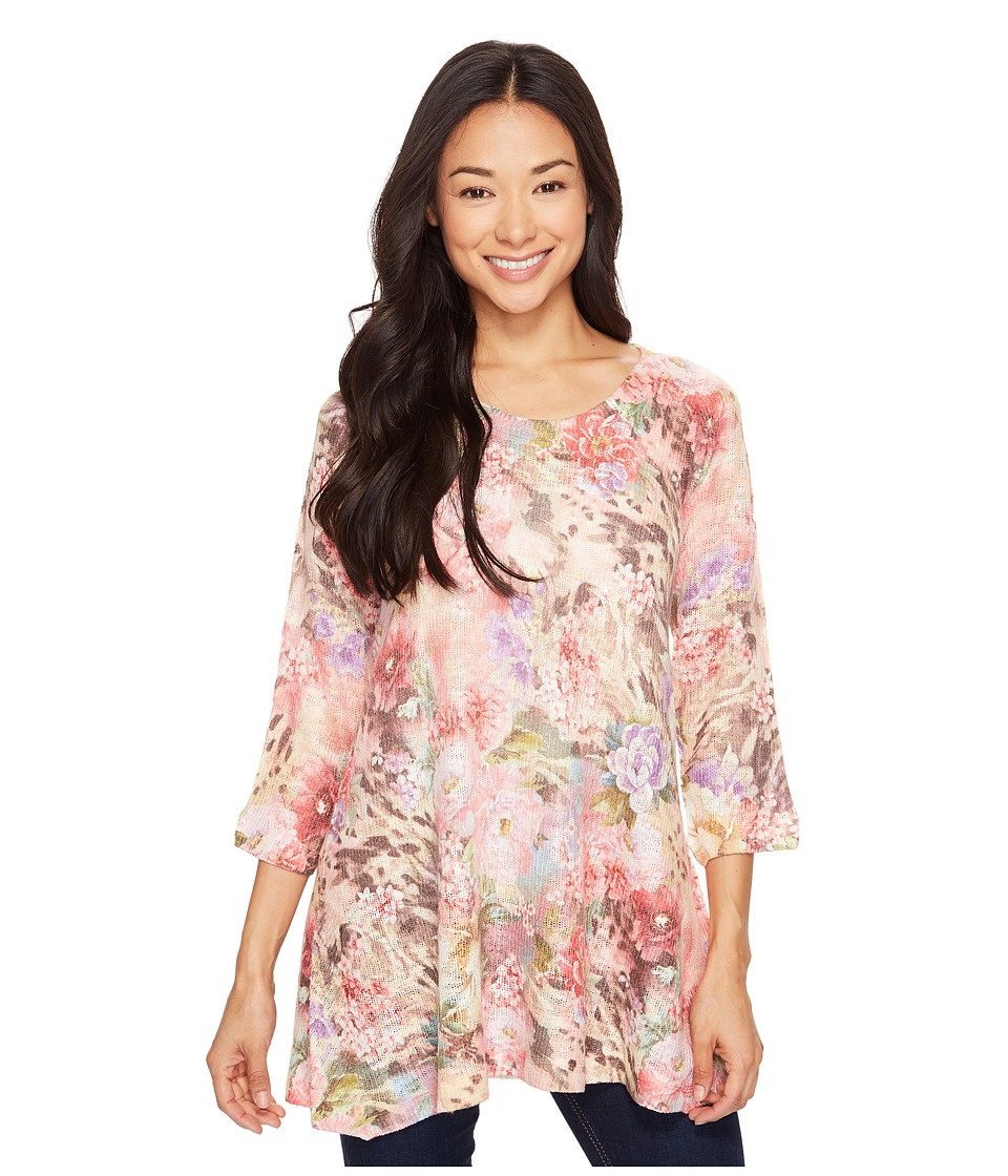 Nally & Millie - Printed Floral Leopard Tunic (Multicolor) Women's Clothing