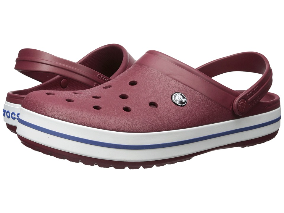Crocs - Crocband (Garnet/White) Clog Shoes