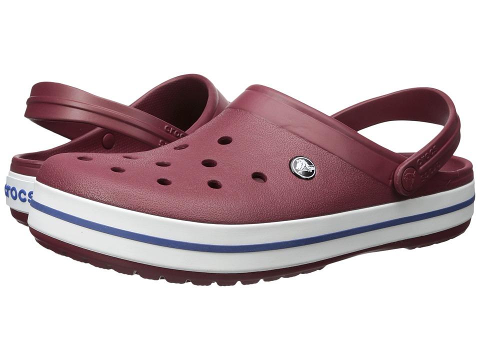 Crocs Crocband Clog (Garnet/White) Clog Shoes