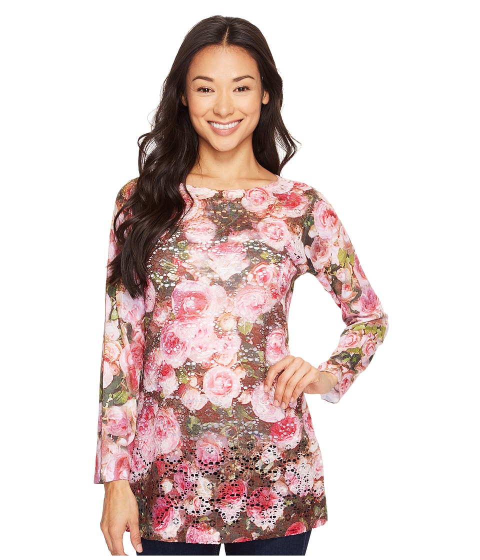 Nally & Millie - Printed Lace Floral Tunic (Multicolor) Women's Clothing
