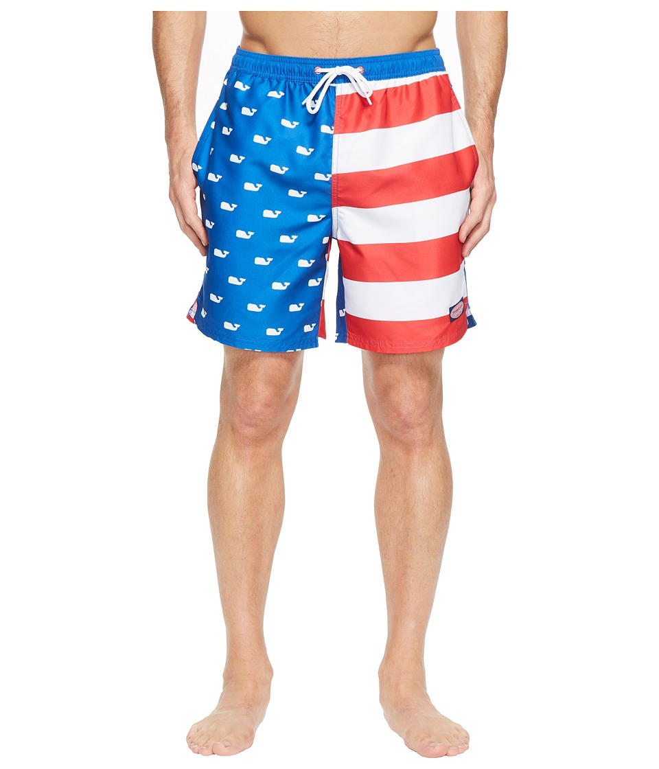 Vineyard Vines - Whale Flag Chappy Trunk (Kingfisher) Men's Swimwear