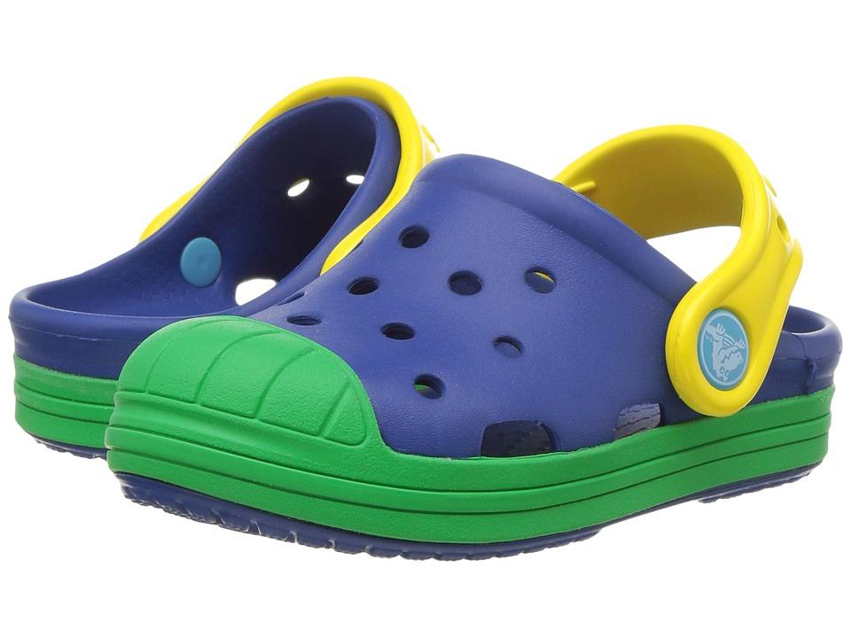 Crocs Kids - Bump It Clog (Toddler/Little Kid) (Blue Jean/Grass Green) Kids Shoes