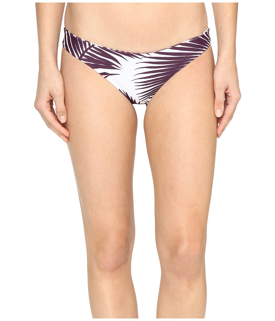 MIKOH SWIMWEAR - Zuma Full Coverage Bottom (Botanical Wine) Women's Swimwear
