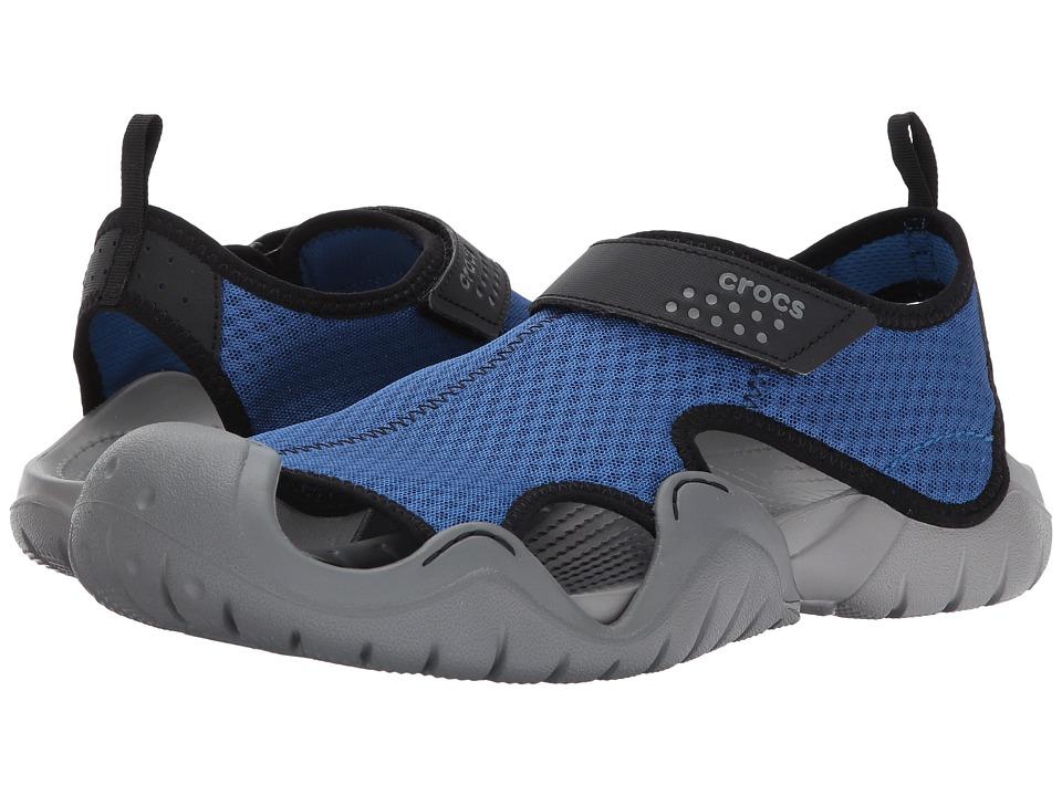 Crocs Swiftwater Sandal (Blue Jean/Slate Grey) Men