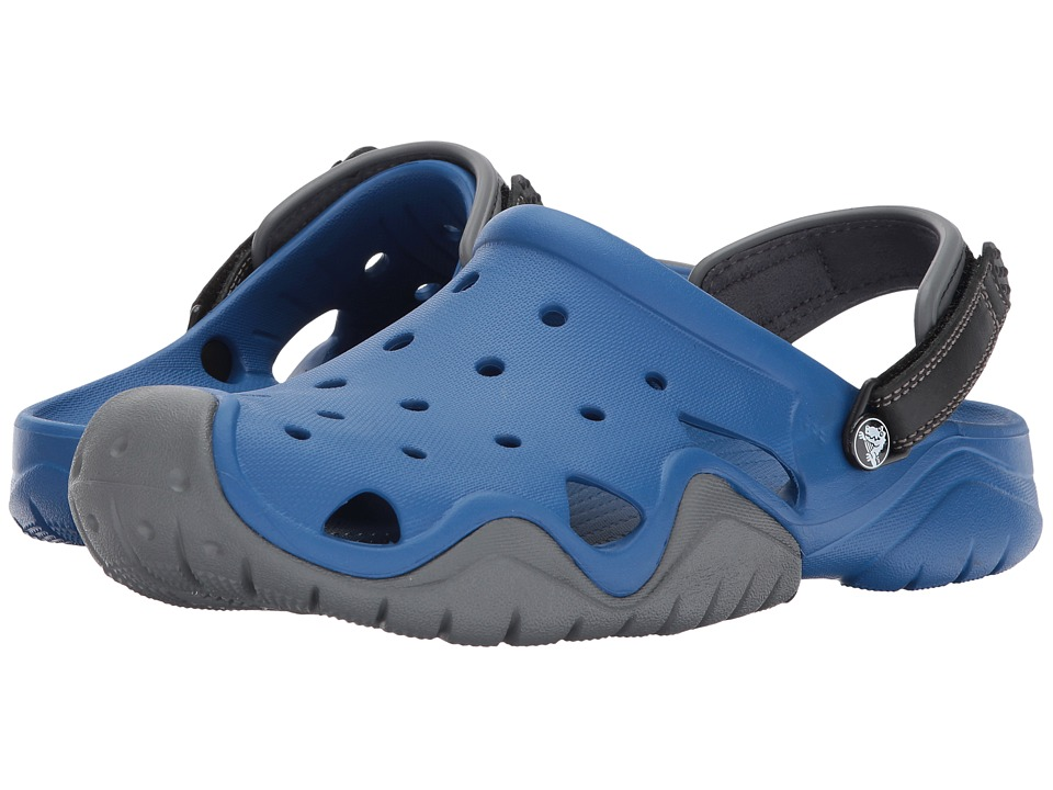 Crocs - Swiftwater Clog (Blue Jean/Slate Grey) Men's Clog Shoes