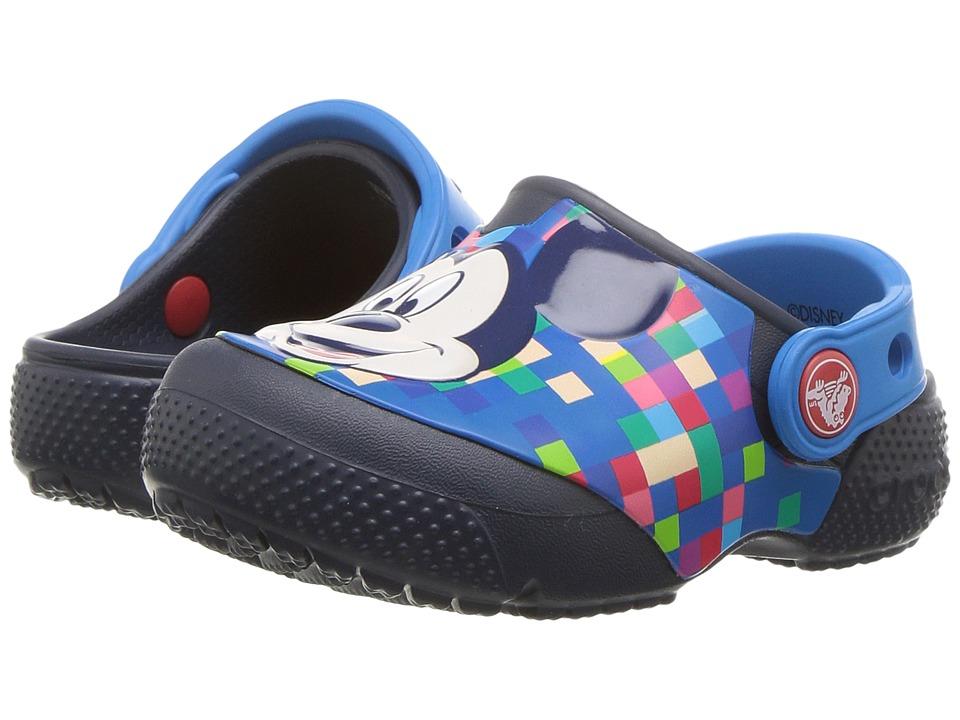 Crocs Kids - FunLab Mickey Clog (Toddler/Little Kid) (Navy) Kids Shoes