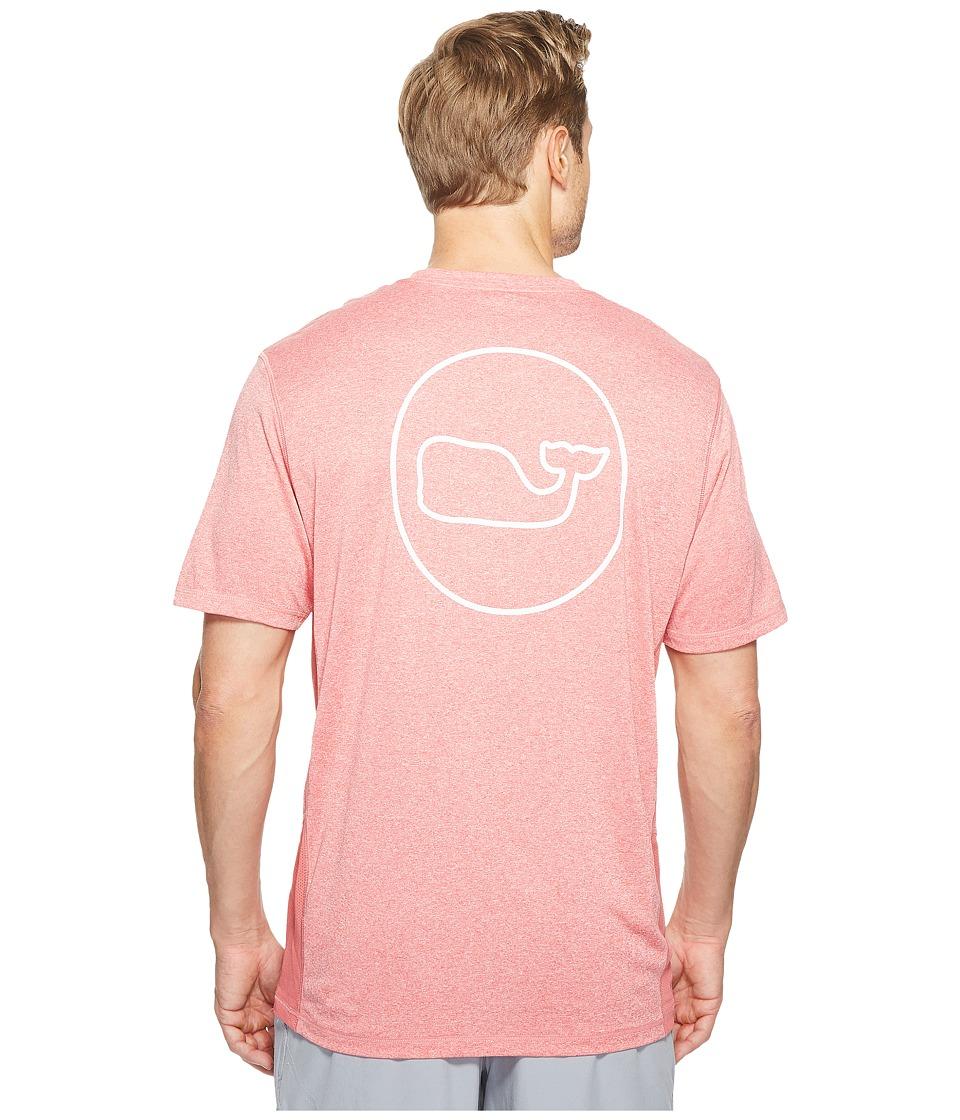 Vineyard Vines - Short Sleeve Performance Whale Dot Cationic T-Shirt (Jetty Red) Men's T Shirt