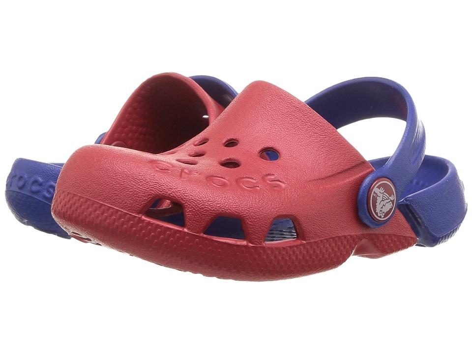 Crocs Kids - Electro (Toddler/Little Kid) (Pepper/Cerulean Blue) Kids Shoes