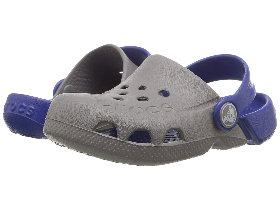 Crocs Kids - Electro (Toddler/Little Kid) (Smoke/Cerulean Blue) Kids Shoes