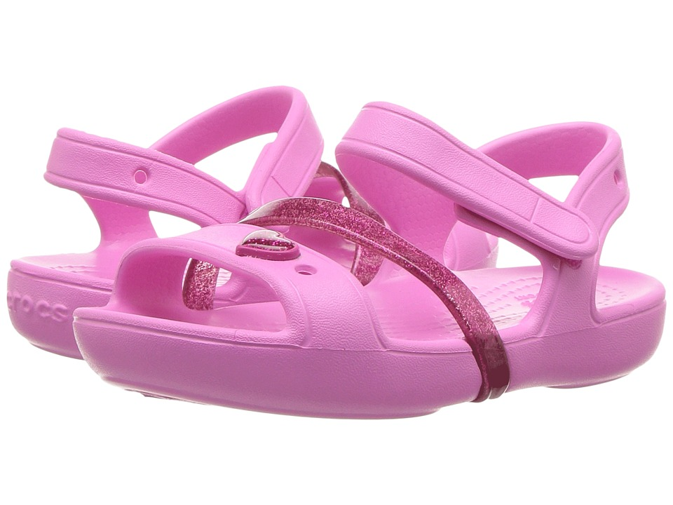 Crocs Kids - Lina Sandal (Toddler/Little Kid) (Party Pink/Candy Pink) Girls Shoes