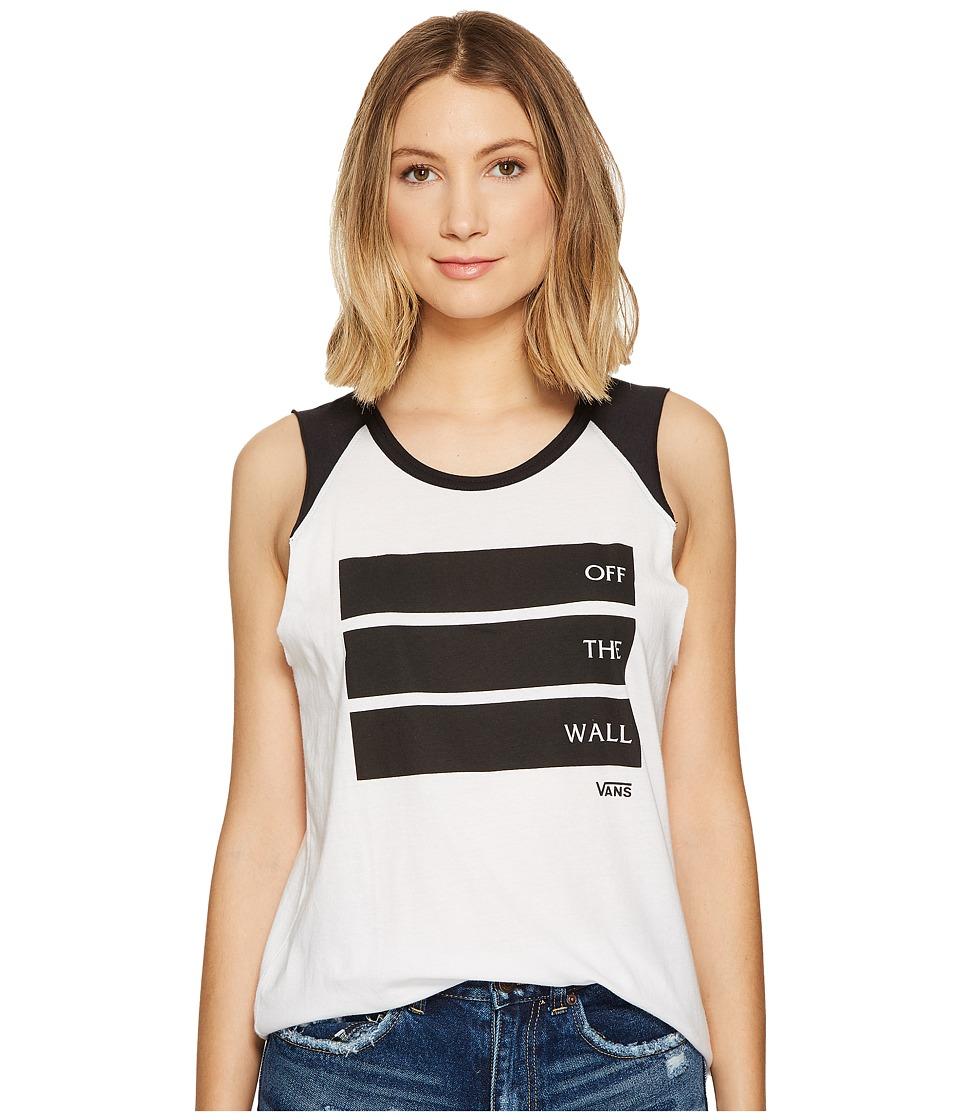Vans - Barred (White/Black) Women's Clothing
