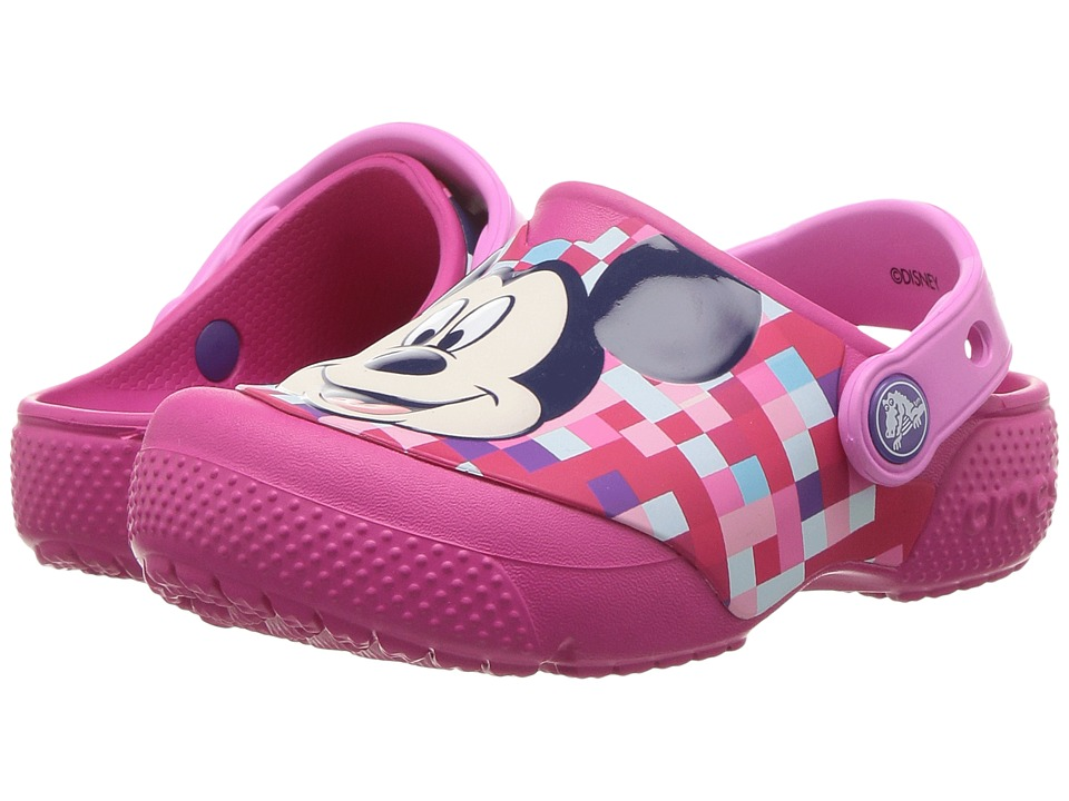 Crocs Kids - FunLab Mickey Clog (Toddler/Little Kid) (Candy Pink) Girls Shoes
