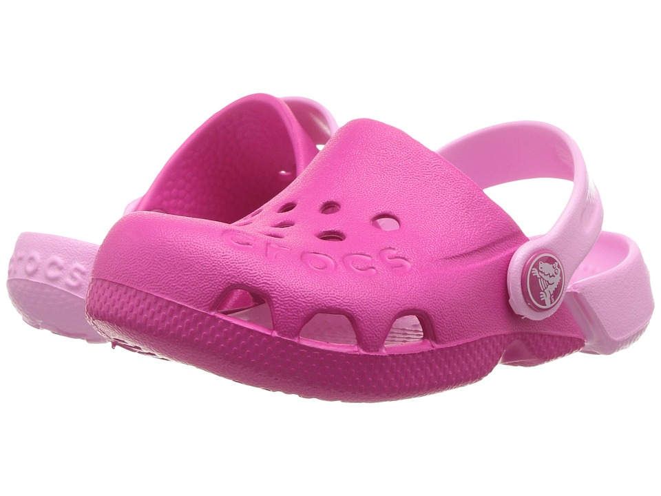 Crocs Kids - Electro (Toddler/Little Kid) (Candy Pink/Carnation) Girls Shoes