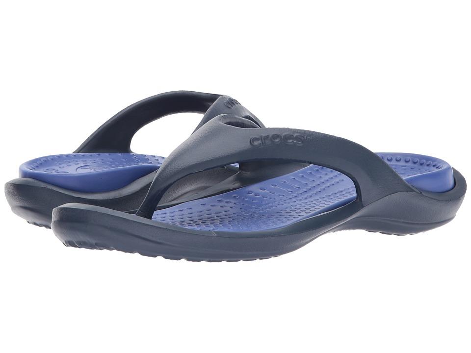 Crocs - Athens (Navy/Cerulean Blue) Sandals