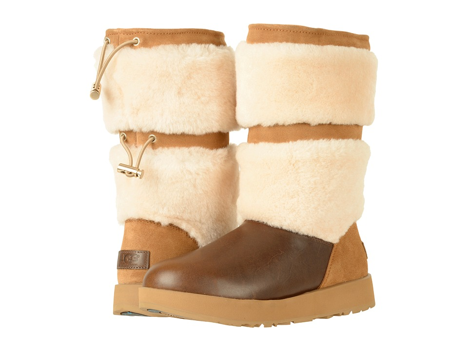 UGG Reykir Waterproof (Chestnut) Women