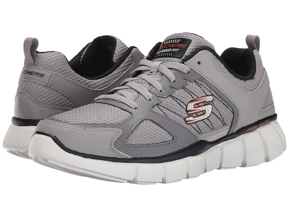 SKECHERS - Equalizer 2.0 On Track (Light Grey/Black) Men's Shoes