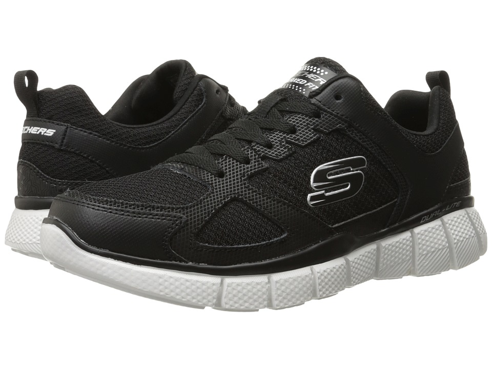 SKECHERS - Equalizer 2.0 On Track (Black/White) Men's Shoes