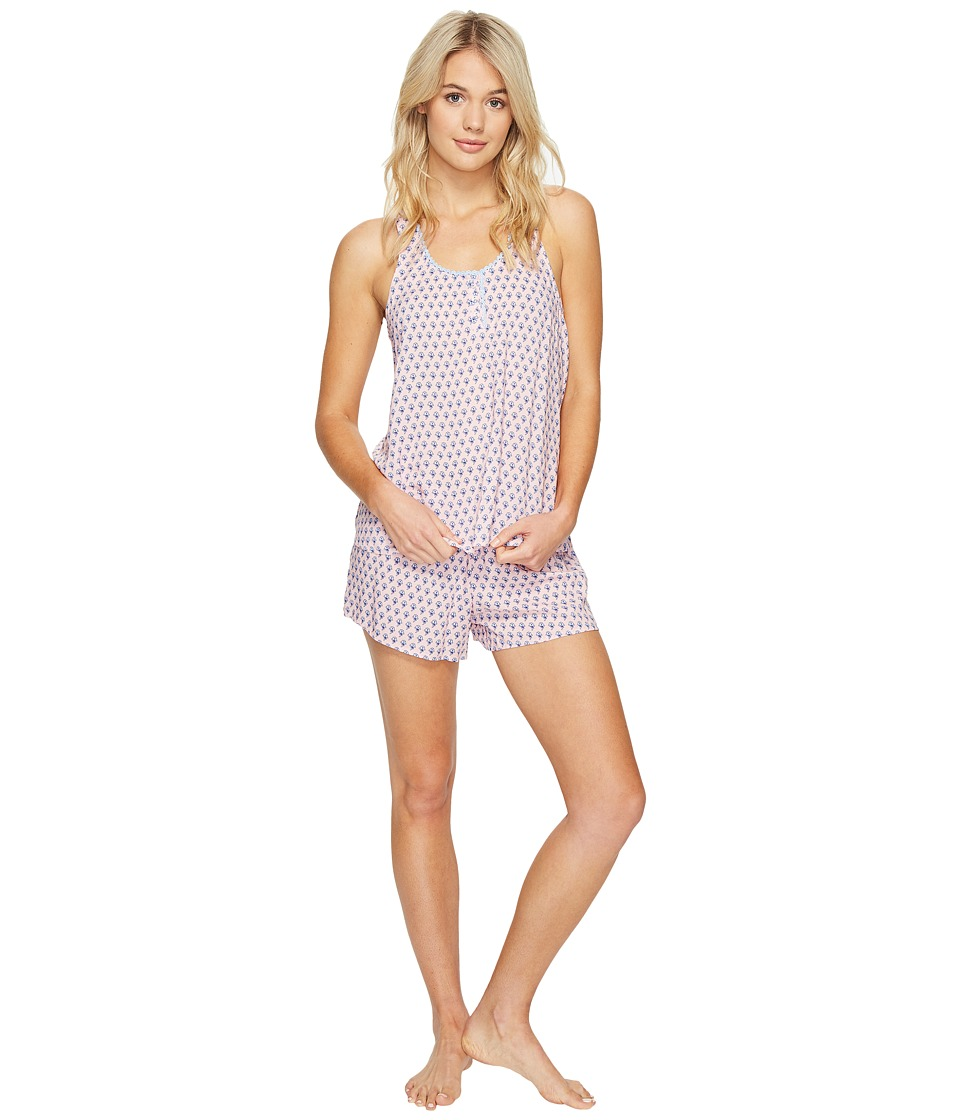 Jane & Bleecker - Woven PJ Shorty Set 3511302 (Varsity Lotus) Women's Pajama Sets