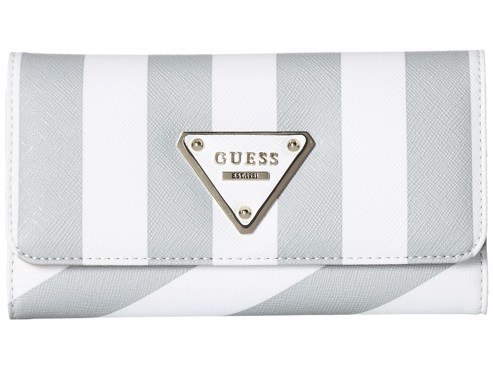 GUESS - Amber SLG Slim Clutch (White Multi) Clutch Handbags