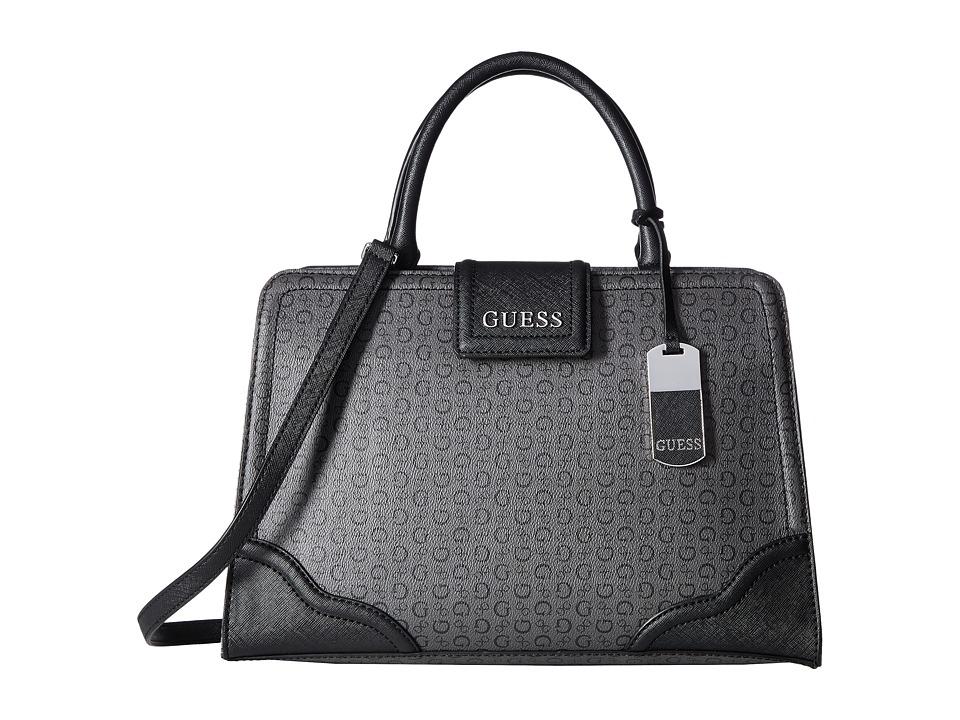 GUESS - Birch Satchel (Coal) Satchel Handbags