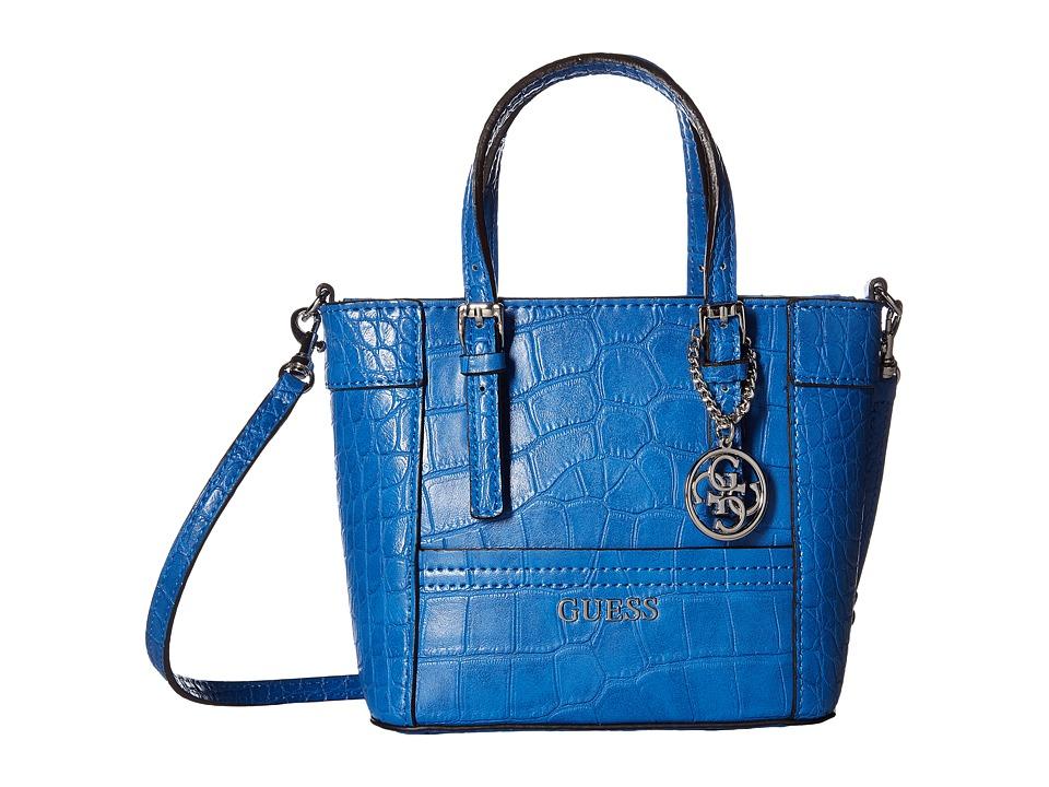 GUESS - Delaney Petite Tote (Cobalt) Tote Handbags