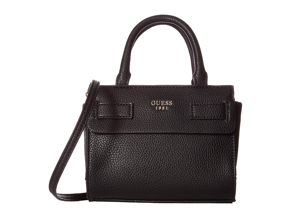 GUESS - Cate Mini Satchel (Black) Satchel Handbags