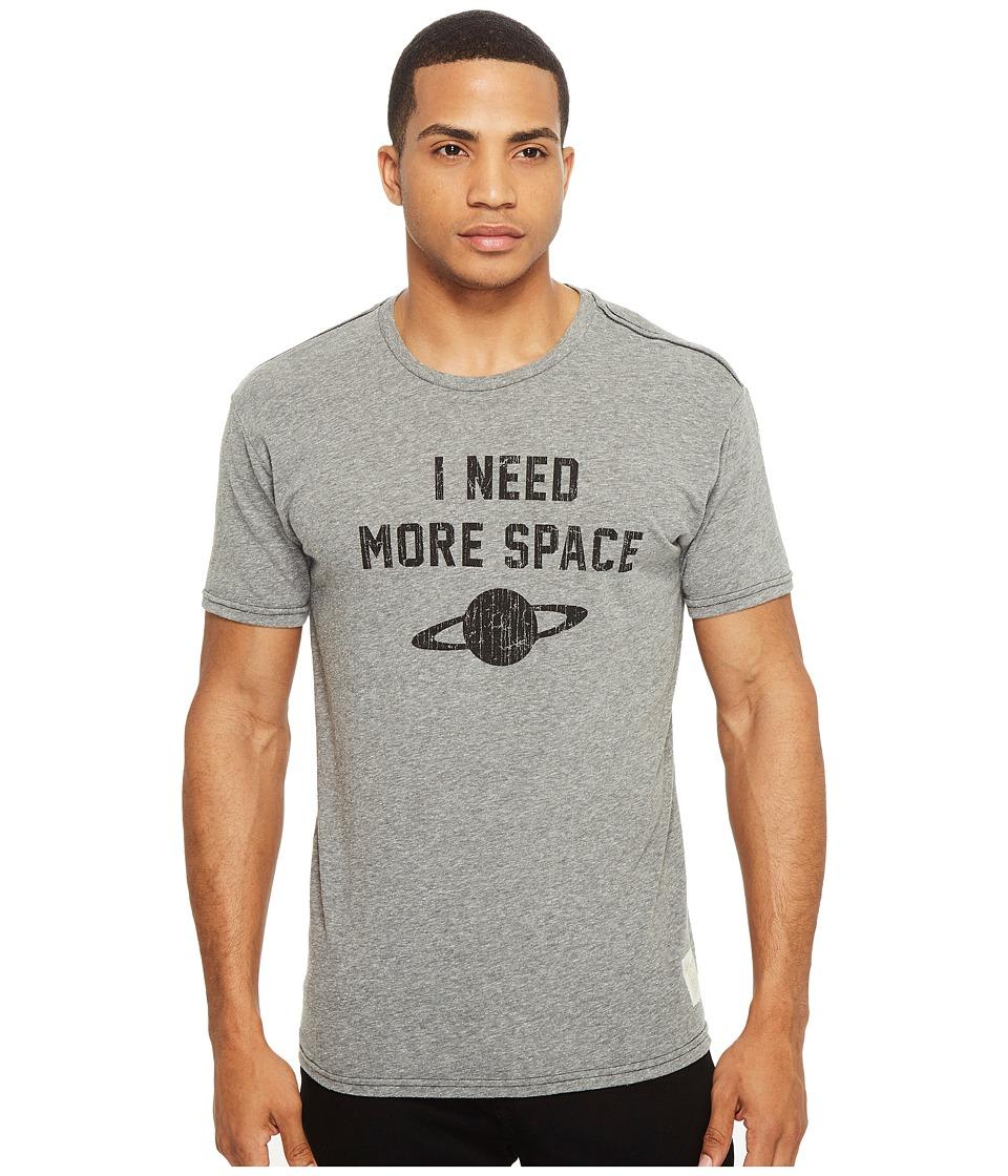 The Original Retro Brand - Short Sleeve Tri-Blend I Need More Space Tee (Streaky Grey) Men's T Shirt