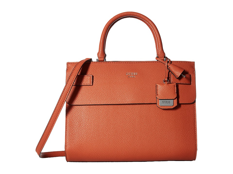 GUESS - Cate Satchel (Spice) Satchel Handbags