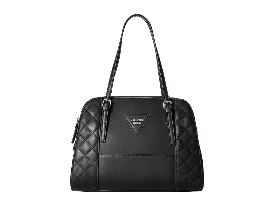 GUESS - Darcie Dome Satchel (Black) Satchel Handbags