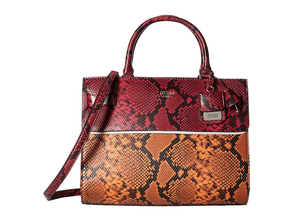 GUESS - Cate Satchel (Lava) Satchel Handbags