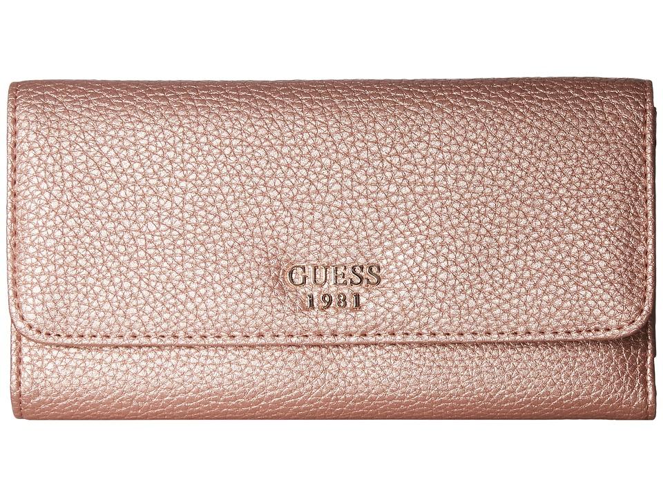 GUESS Cate SLG Multi Clutch (Rose Gold) Clutch Handbags