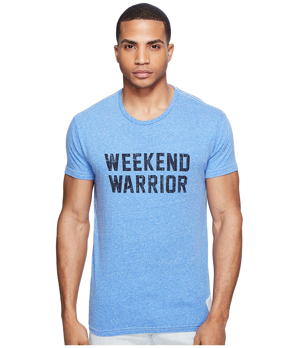The Original Retro Brand - Weekend Warrior Short Sleeve Tri-Blend Tee (Streaky Blue) Men's T Shirt