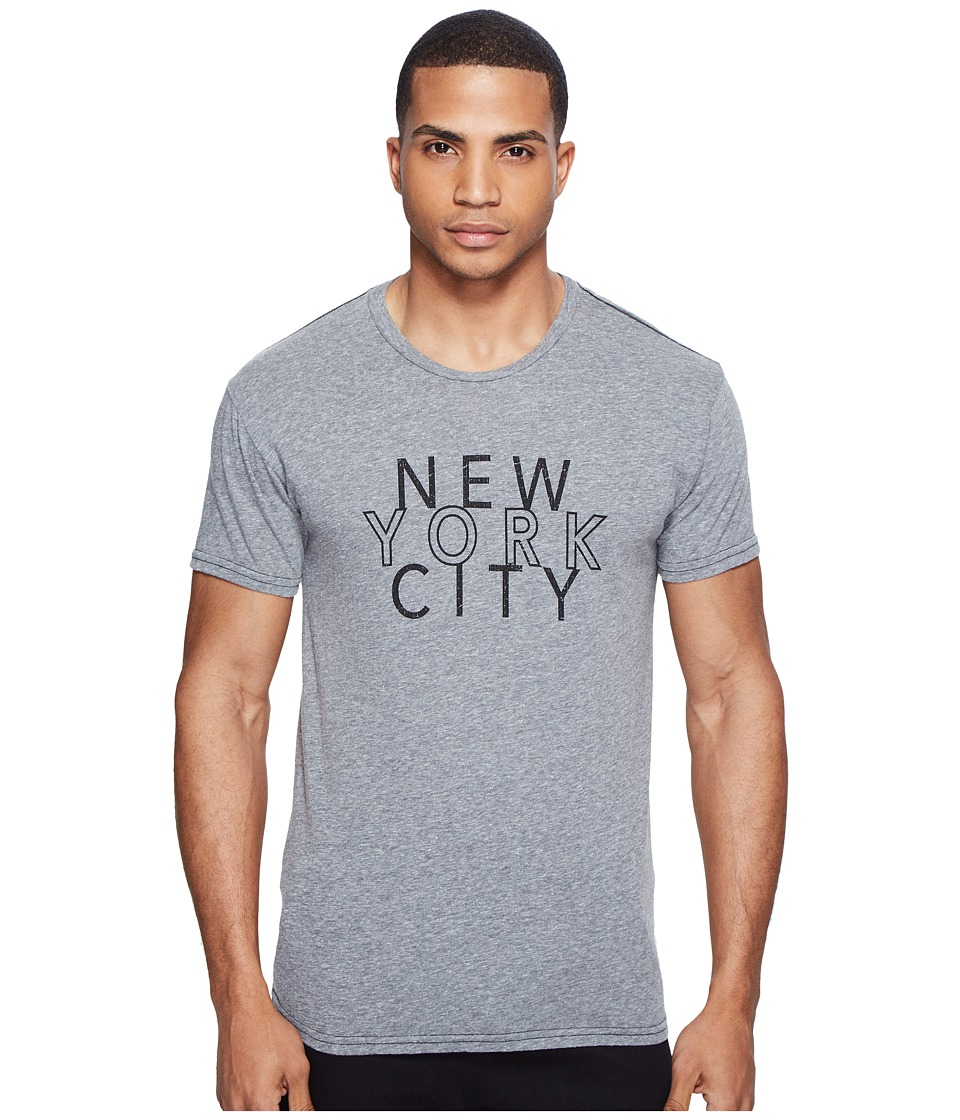 The Original Retro Brand - New York City Short Sleeve Tri-Blend Tee (Streaky Grey) Men's T Shirt