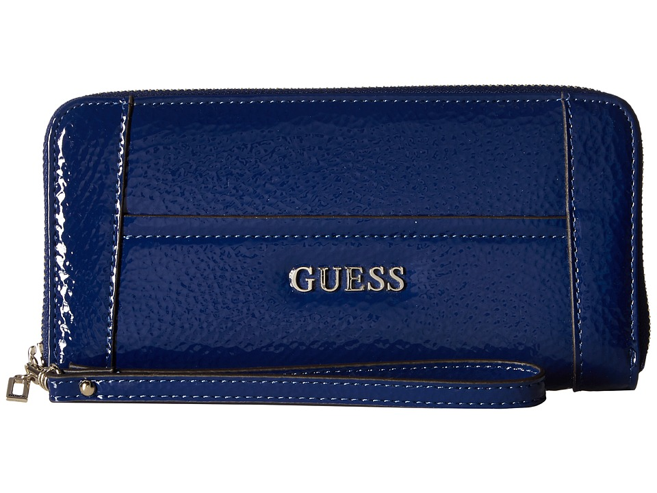 GUESS - Delaney SLG Large Zip Around (Sapphire) Tote Handbags