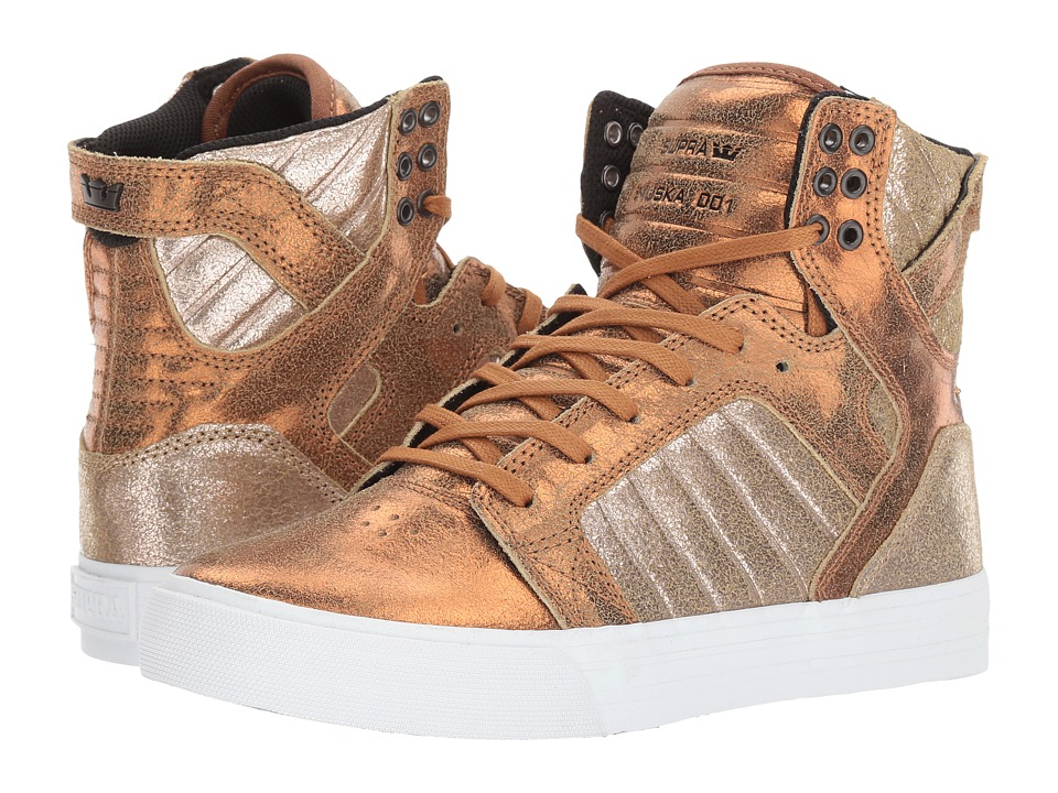 Supra Skytop (Metallic Pewter/White) Women