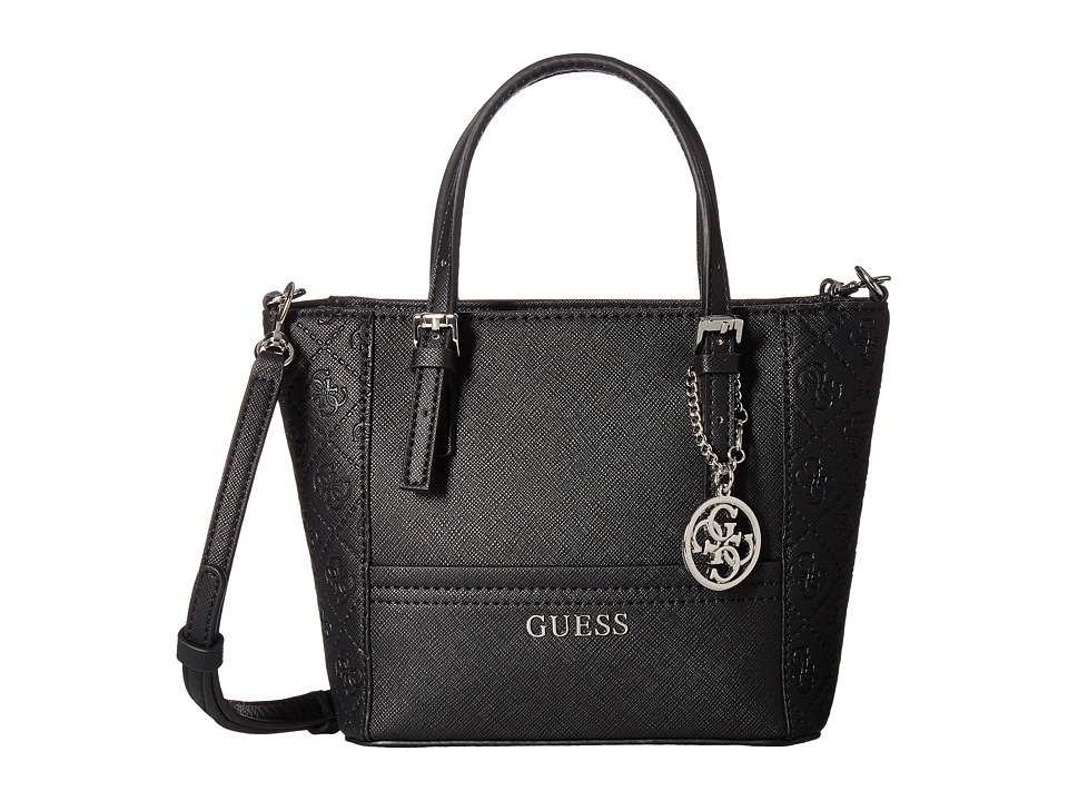 GUESS - Delaney Petite Tote (Black) Tote Handbags