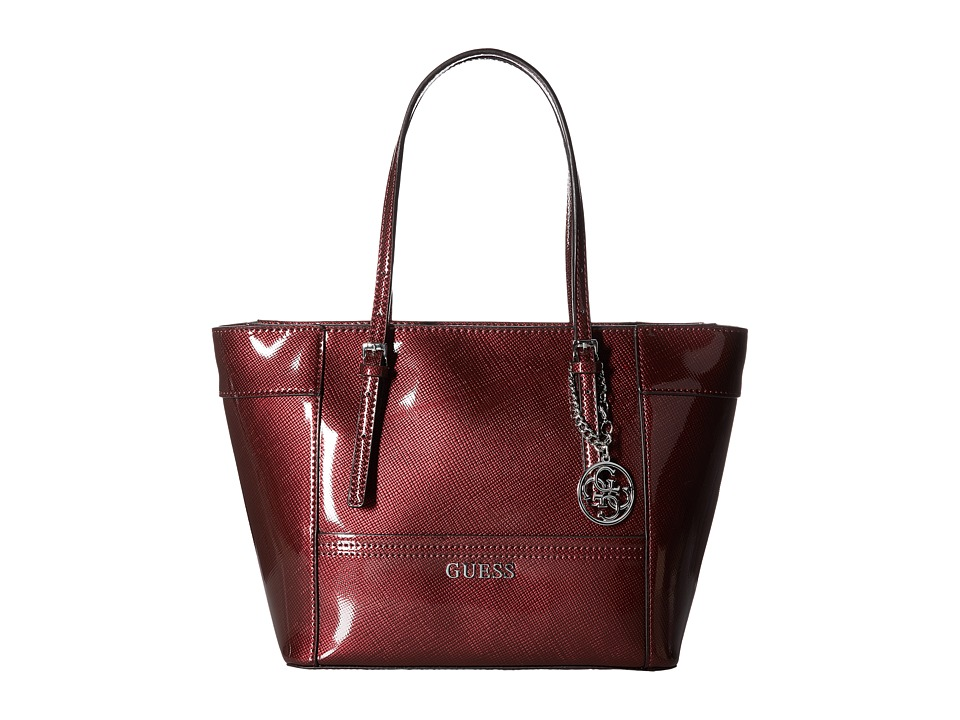 GUESS - Delaney Small Classic Tote (Bordeaux) Tote Handbags
