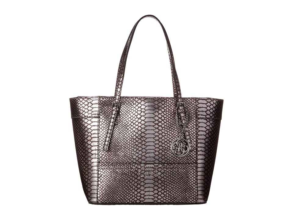 GUESS - Delaney Small Classic Tote (Pewter) Tote Handbags