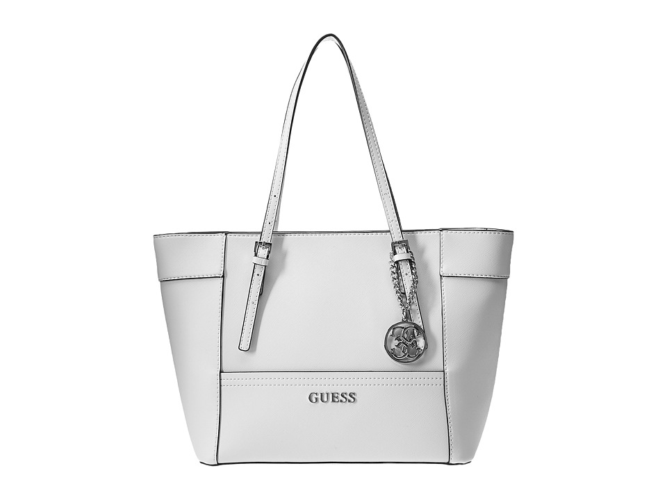 GUESS - Delaney Small Classic Tote (White) Tote Handbags