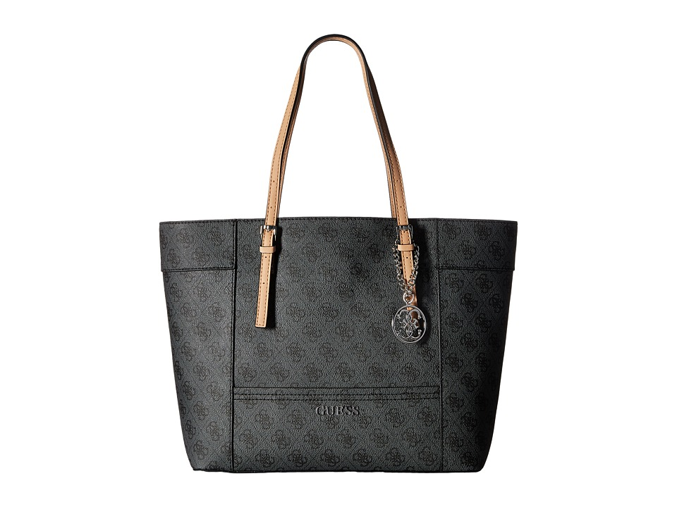 GUESS - Delaney Medium Classic Tote (Coal) Tote Handbags