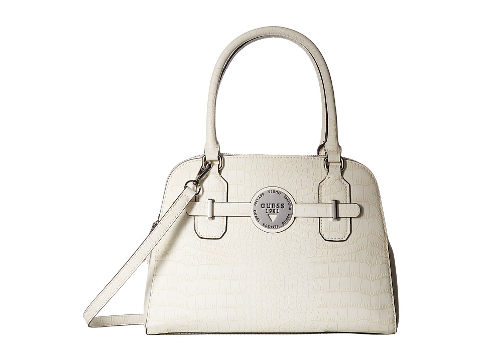 GUESS - Delrose Dome Satchel (Chalk) Satchel Handbags