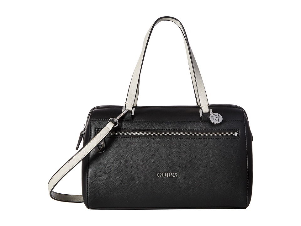 GUESS - Grants Pass Box Satchel (Black Multi) Satchel Handbags
