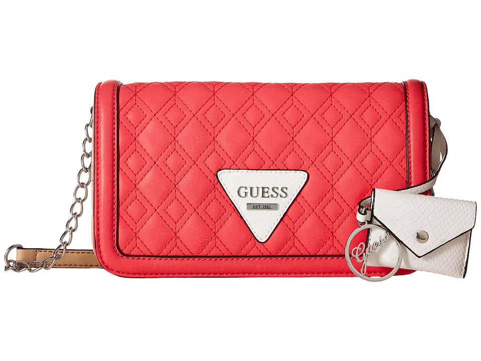 GUESS - Dress Up Crossbody Flap (Pink Multi) Handbags
