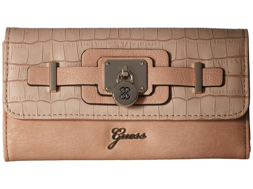 GUESS - Greyson SLG Slim Clutch (Nude Multi) Clutch Handbags