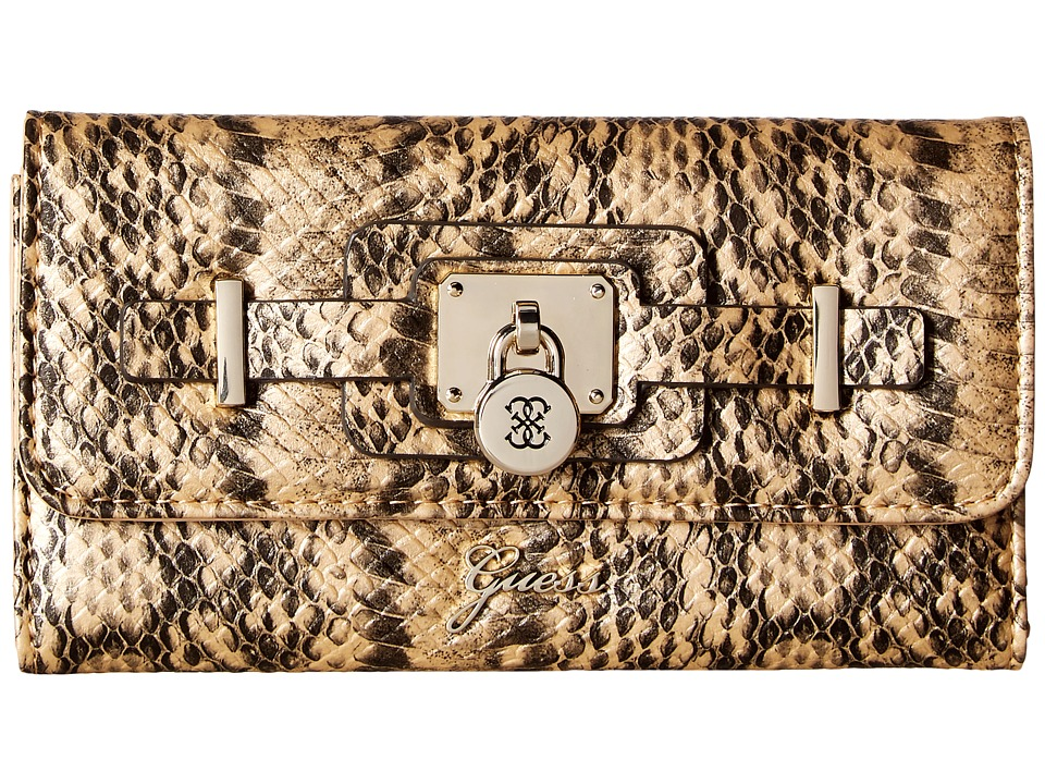GUESS - Greyson SLG Slim Clutch (Camel) Clutch Handbags