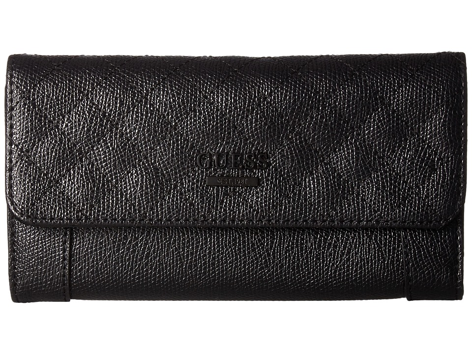 GUESS Huntley SLG Slim Clutch (Coal) Clutch Handbags