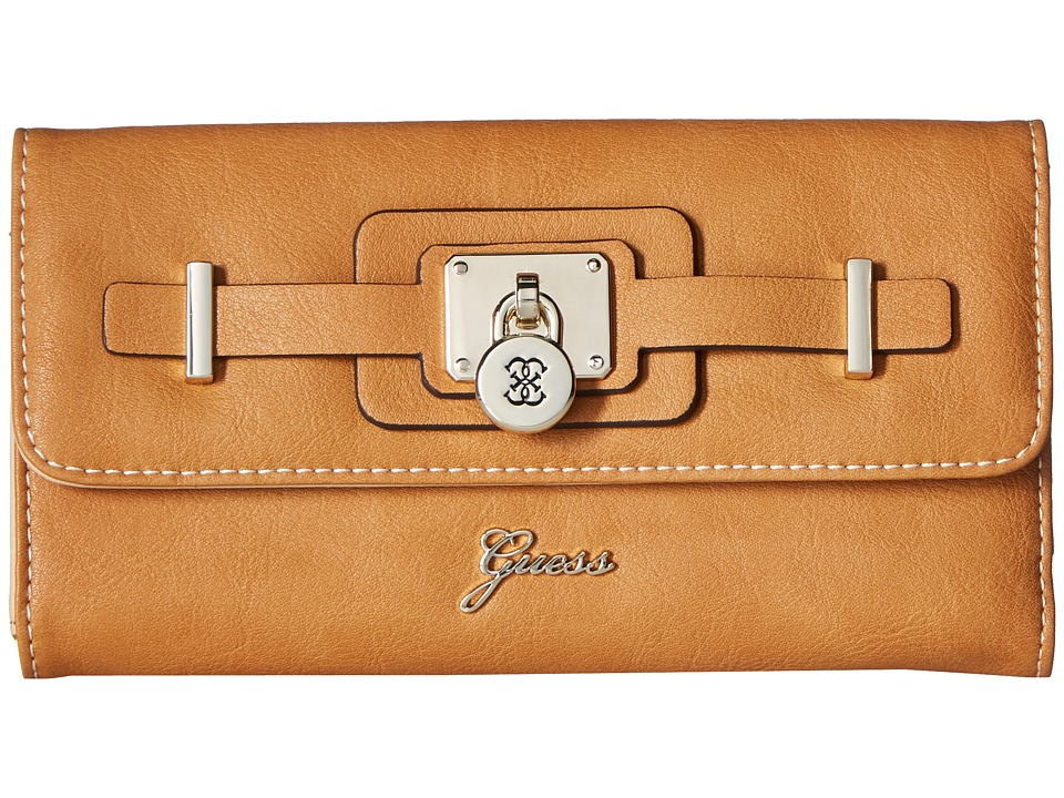 GUESS - Greyson SLG Multi Clutch (Cognac) Clutch Handbags